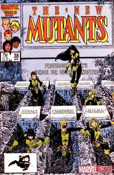 Image Featuring Magma (Amara Aquilla), Moonstar, Wolfsbane, Warlock (Technarchy), New Mutants, Karma, Cannonball