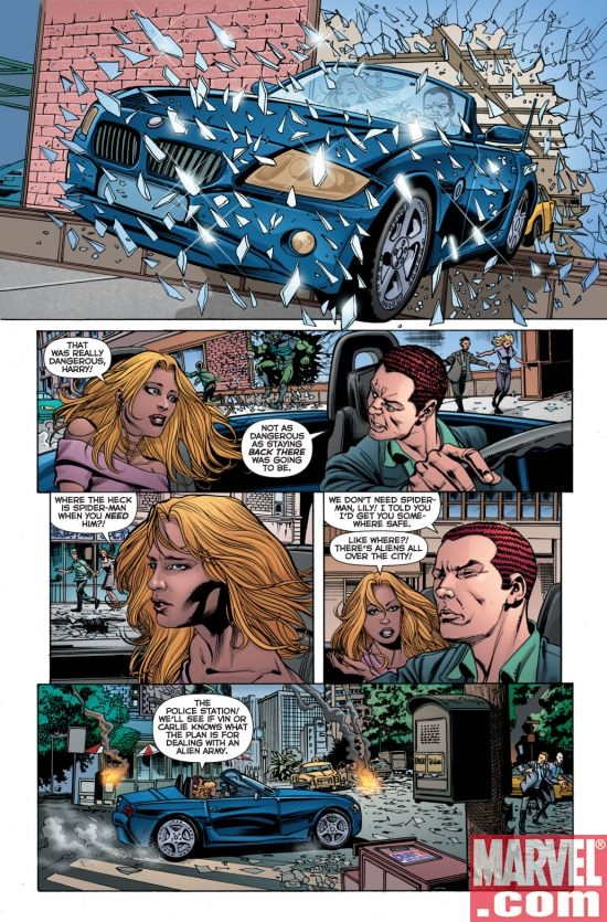 Colbert '08 Easter Egg from SECRET INVASION: THE AMAZING SPIDER-MAN #2