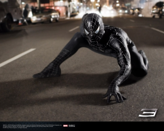 Spider-Man 3 Movie: Spidey in Black Posing
