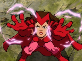 """The Scarlet Witch in action in """"The Super Hero Squad Show"""""""