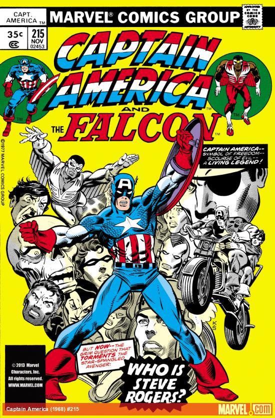 Captain America (1968) #215 Cover