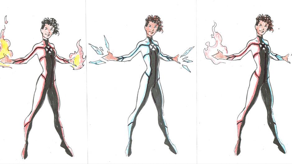 All-New X-Men design sketch by Mark Bagley