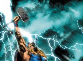 THOR: FIRST THUNDER #1 cover by Jay Anacleto
