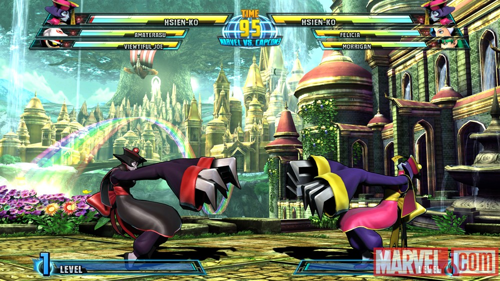 Marvel vs. Capcom 3 screenshot: Hsien-Ko vs. Hsien-Ko