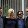 Kevin Bacon (Sebastian Shaw), January Jones (Emma Frost), James McAvoy (Charles Xavier) and Michael Fassbender (Magneto)