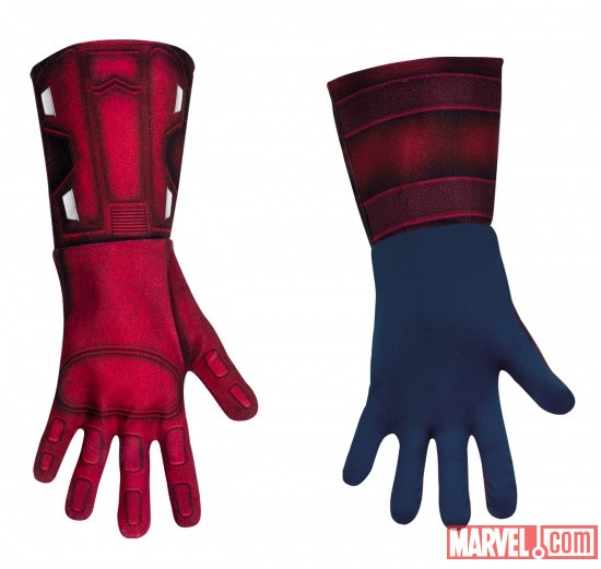 Captain America Deluxe Gloves Adult