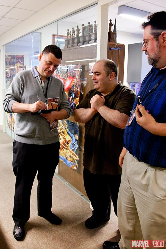 Sherlock Executive Producer Steven Moffat, Amazing Spider-Man writer Dan Slott and Marvel Executive Vice President Tom Brevoort