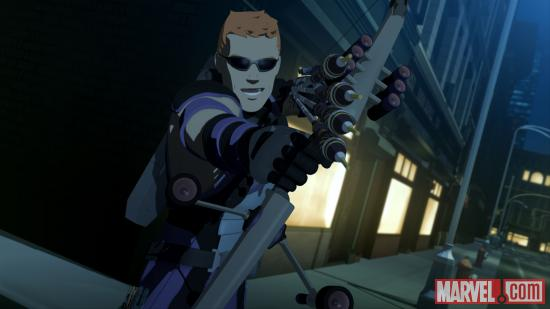 Screenshot of Hawkeye from IMAA, Season 2 Ep. 18