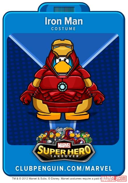 Iron Man Suit from Club Penguin