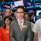 Robert Downey Jr. ringing the opening bell at the NYSE