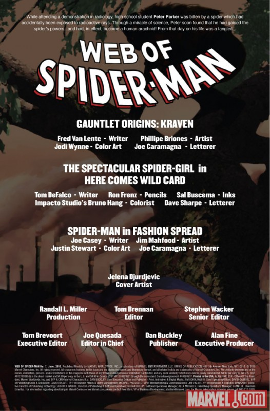 Images From PREVIEW: Web Of Spider-Man #7