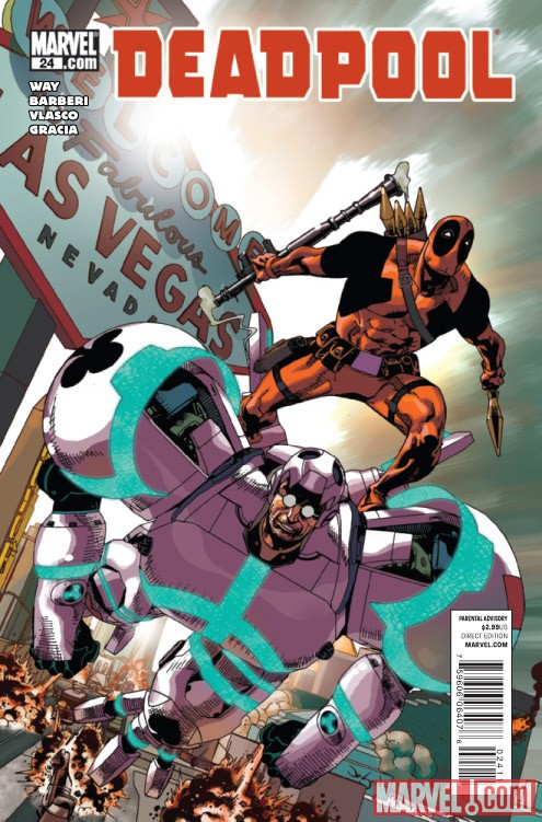 DEADPOOL #24 cover by Jason Pearson