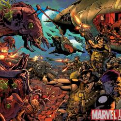 Formic Wars: Burning Earth #1 variant cover by Bryan Hitch