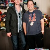 Thor's Chris Hemsworth and Joe Quesada pose for the camera in Marvel HQ