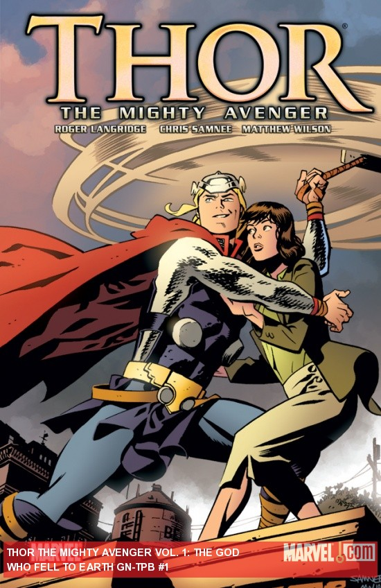 THOR THE MIGHTY AVENGER VOL. 1 GN-TPB cover by Chris Samnee