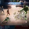 She-Hulk and Spider-Woman screen shot from Marvel: Avengers Alliance