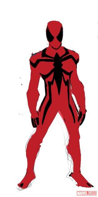 Scarlet Spider design art by Ryan Stegman
