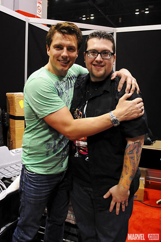 C2E2 2012: Ryan Penagos Poses with John Barrowman