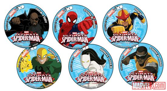San Diego-exclusive Ultimate Spider-Man buttons