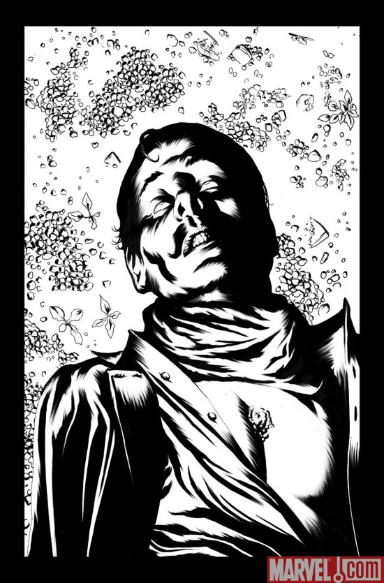 Black and white preview art by Richard Isanove