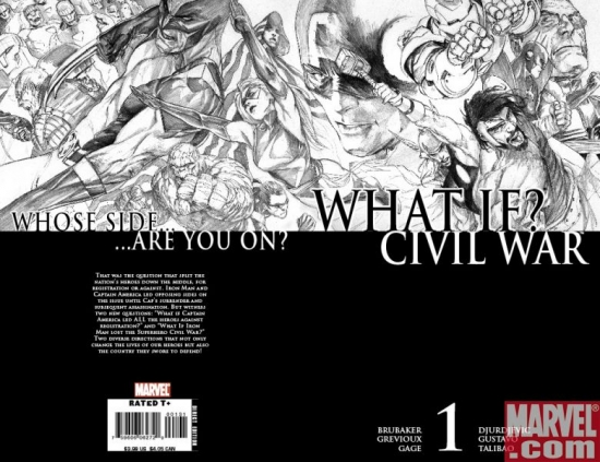 What If? Civil War Wraparound Djurdjevic Sketch Variant Cover