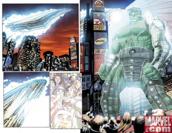 World War Hulk #1 interior art