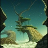 Background art of Kona Lifandi from Thor: Tales of Asgard