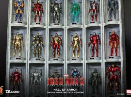 Iron Man 3 1/6th scale Hall of Armor from Hot Toys
