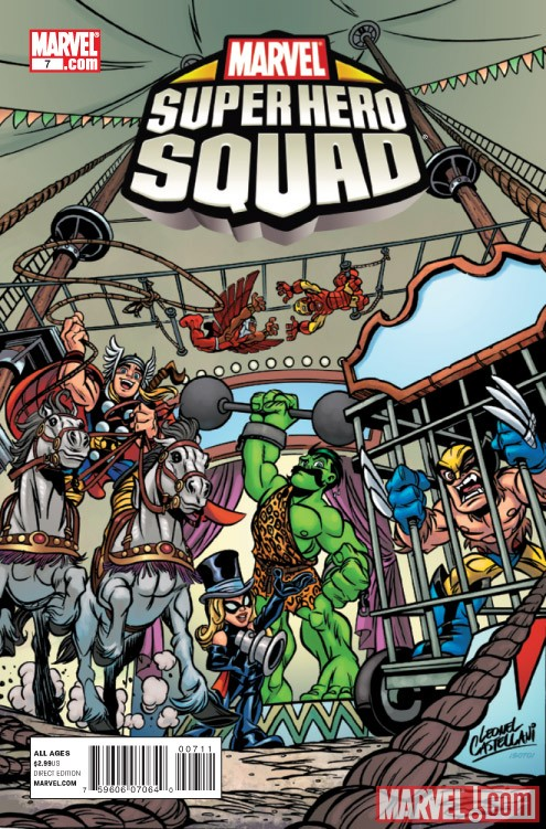 SUPER HERO SQUAD #7 cover by Leonel Castellani