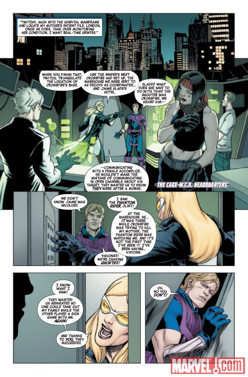 HAWKEYE &amp; MOCKINGBIRD #3 preview art by David Lopez