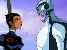 Ultron and Maria Hill face off in The Avengers: Earth's Mightiest Heroes!