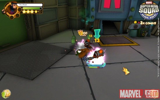 A screenshot from Super Hero Squad Online