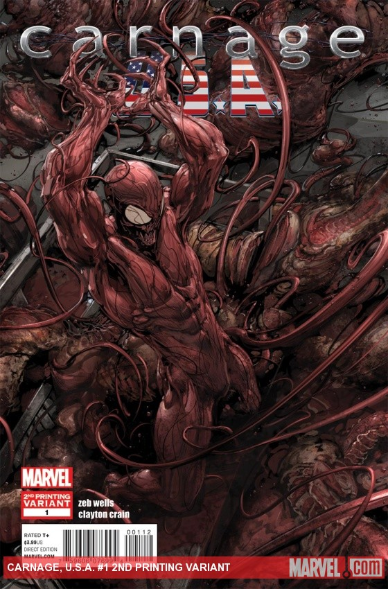 Carnage, U.S.A. (2011) #1 (2nd Printing Variant)