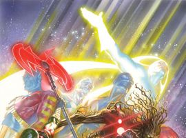 Guardians of the Galaxy (2013) #18 variant cover by Alex Ross