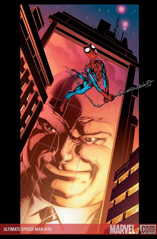 Ultimate Spider-Man #110 cover by Mark Bagley