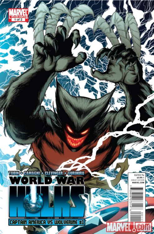 WORLD WAR HULKS: CAPTAIN AMERICA VS. WOLVERINE #1 cover by Barry Kitson