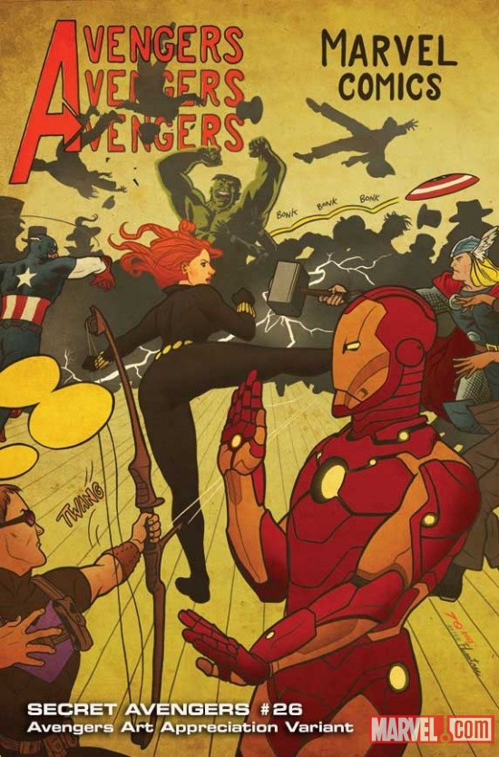 Secret Avengers #26 variant cover by Joe Quinones