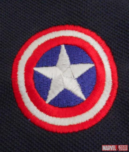 Captain America logo close-up from WeLoveFine
