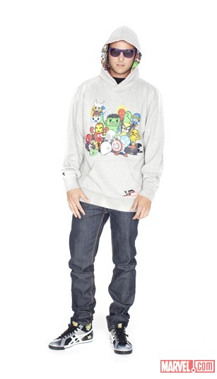 tokidoki X Marvel Men's Marvel All-Stars Hoodie