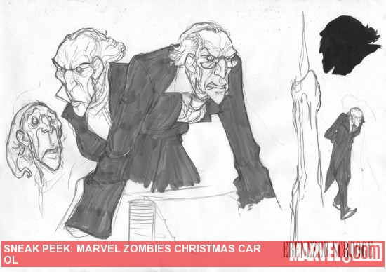 Marvel Zombies Christmas Carol sketch art by David Baldeon