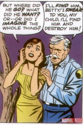 Betty & General Ross by Jack Kirby