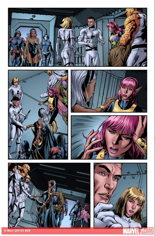 X-Men (2010) #28 preview art by Jorge Molina