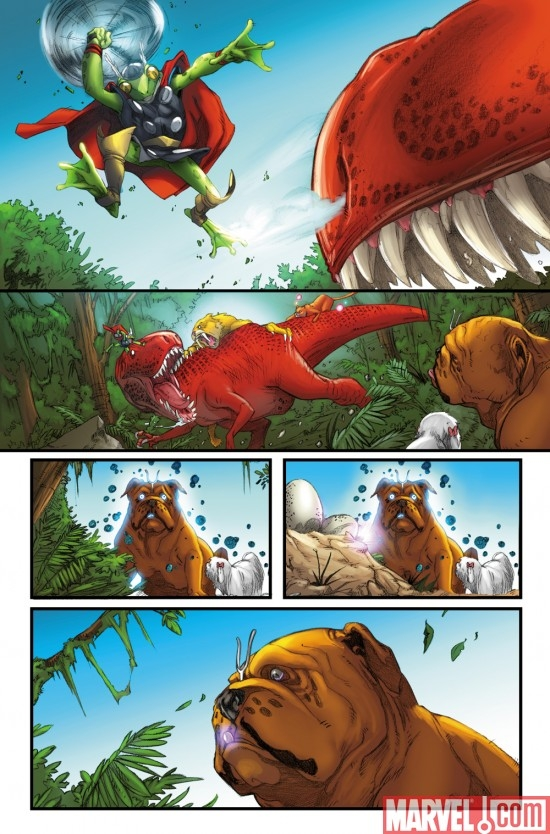 LOCKJAW AND THE PET AVENGERS #2 art by Ig Guara