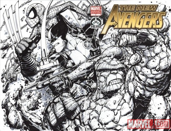 New Avengers #1 cover by Partick Scherberger