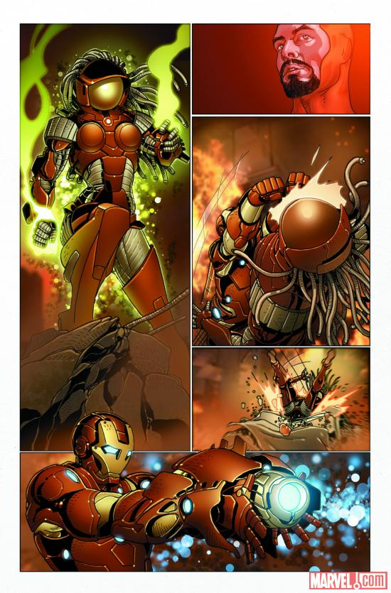Invincible Iron Man #516 preview art by Salvador Larroca