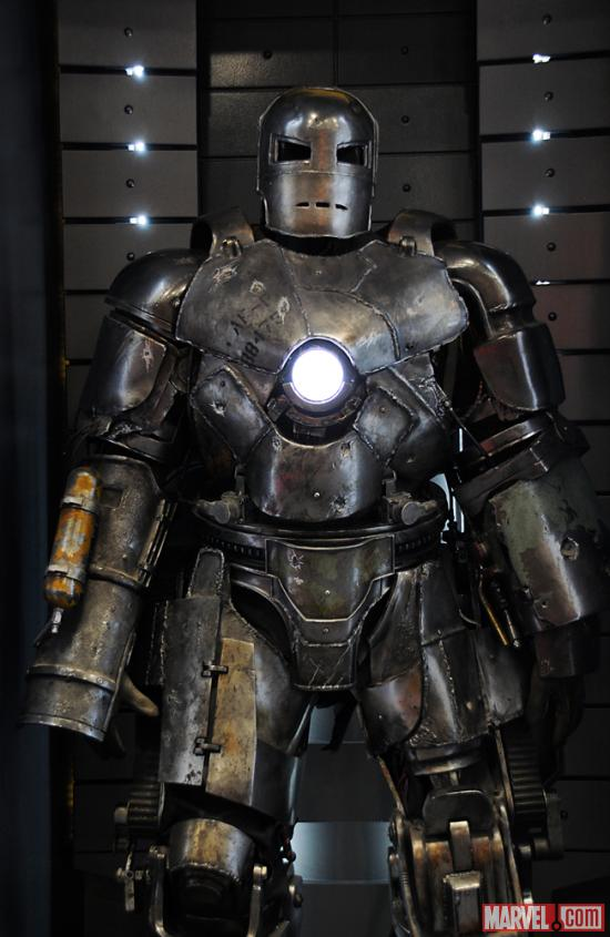 The Mark I armor at the Marvel Booth at San Diego Comic-Con 2012