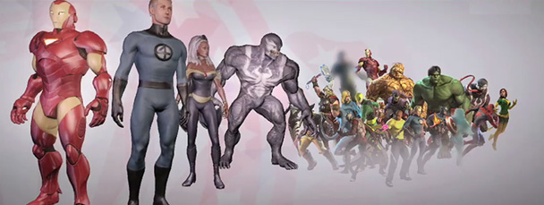 Image Featuring Hulk, Iron Man, Mr. Fantastic, Storm, Thing
