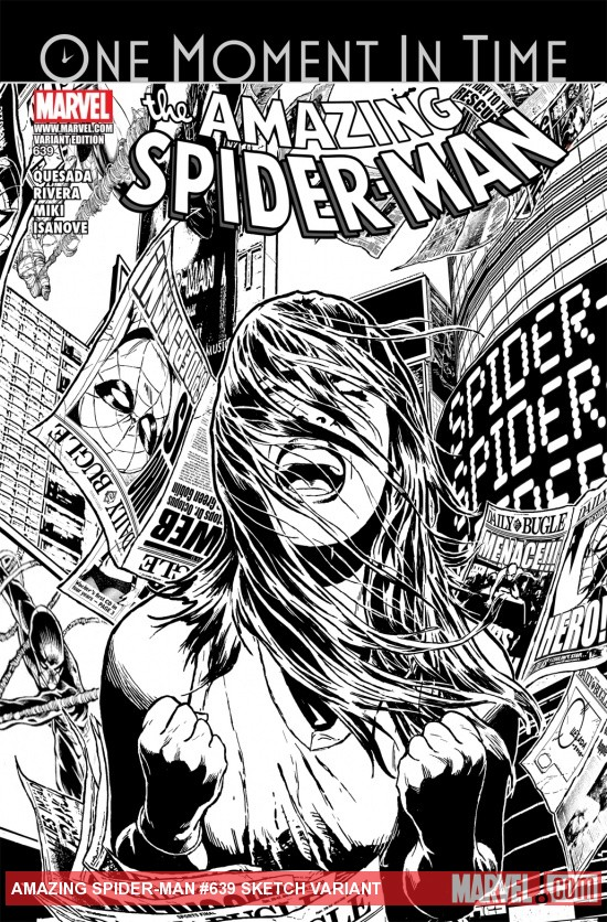 Amazing Spider-Man (1999) #639, SKETCH VARIANT