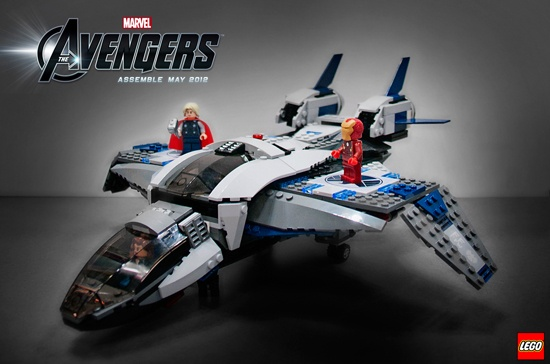Quinjet Arial Battle from LEGO's Marvel's The Avengers collection