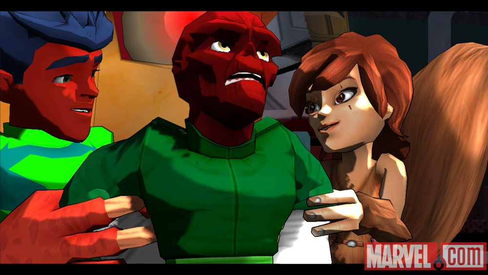 Screenshot from Marvel Super Hero Squad: Comic Combat
